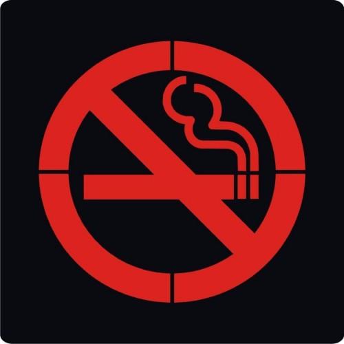 سنگ نورانی ضد آب طرح سیگار ممنوع مدل PL10N